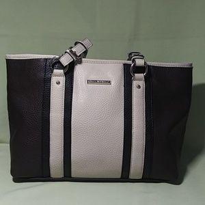 Handbags - Dana Buchman Shoulder Bag Cream Brown Black